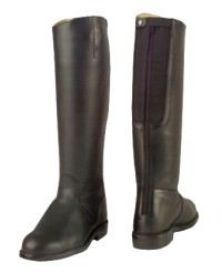 Men's Made to Measure  black Long Riding Boots / Tall Riding Boots